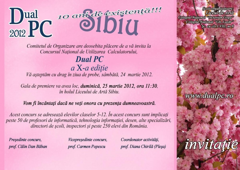 for all invitatie dual pc 2012